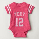 Diseño rosado del jersey de los deportes del bebé