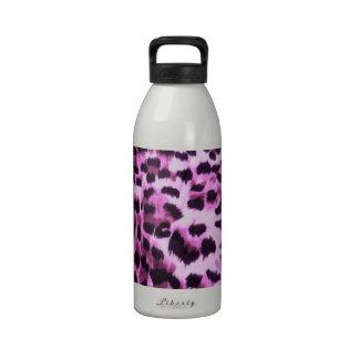 Diseño rosado del modelo de la piel animal botellas de beber