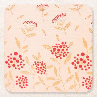 Diseño rosado el patrón para los prácticos de posavasos desechable cuadrado