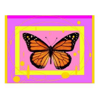 Diseño rosado femenino del monarca por Sharles Postales