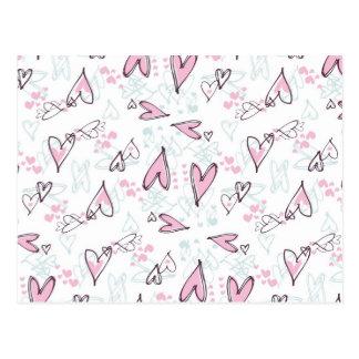 Diseño rosado lindo del el día de San Valentín del Postales