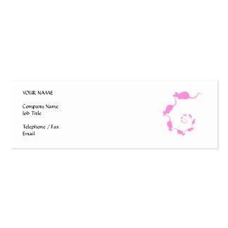 Diseño rosado lindo del ratón. Espiral de ratones Tarjetas De Visita Mini