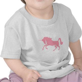 Diseño rosado mitológico griego del unicornio camiseta
