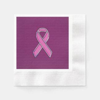 Diseño rosado moderno de la conciencia de la cinta servilletas desechables