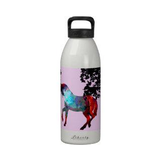 diseño rosado personalizado del caballo botella de agua