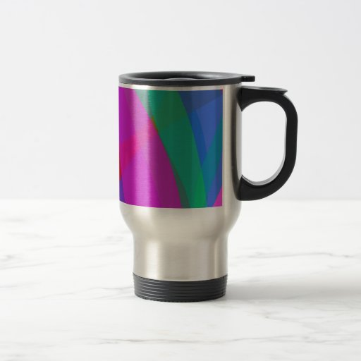 Diseño rosado psicodélico único tazas