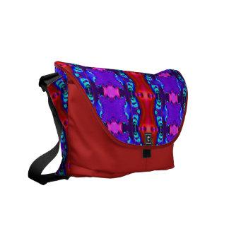 Diseño rosado púrpura rojo bonito bolsa de mensajeria