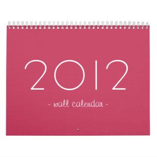 Diseño rosado su calendario de pared de las fotos