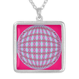 Diseño rosado/suavemente de la turquesa vibrante colgante cuadrado