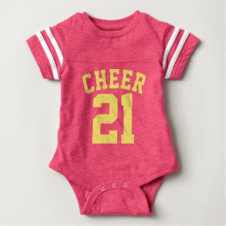 Diseño rosado y amarillo del jersey de los