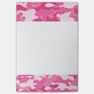 Diseño rosado y blanco de Camo Nota Post-it®