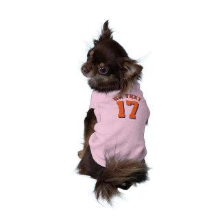 Diseño rosado y del naranja de los mascotas el | playera sin mangas para perro