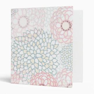 """Diseño rosado y gris de la explosión de la flor carpeta 1"""""""
