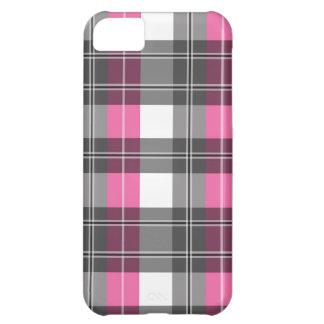 Diseño rosado y gris de la tela escocesa