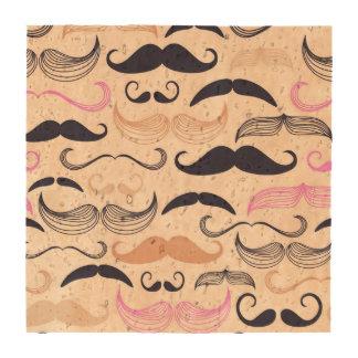 Diseño rosado y negro enrrollado del bigote posavasos