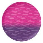 Diseño rosado y púrpura de encargo platos para fiestas