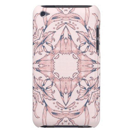 Diseño rosado y púrpura del Victorian - modificado Case-Mate iPod Touch Carcasa