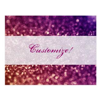 Diseño rosado y púrpura rojo del brillo de la diva postal