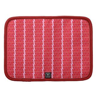 Diseño rosado y rojo oscuro del galón planificador