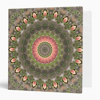 """Diseño rosado y verde de la mandala carpeta 1 1/2"""""""