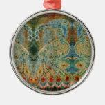 Diseño rumano de la tela del vintage ornaments para arbol de navidad
