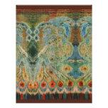 Diseño rumano de la tela del vintage membrete personalizado