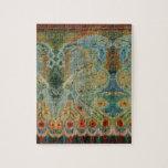 Diseño rumano de la tela del vintage puzzle con fotos