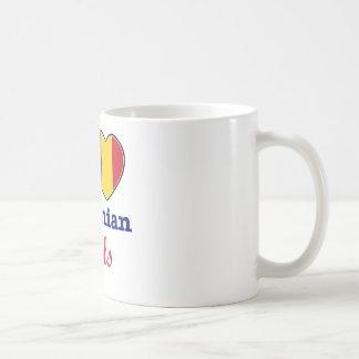 Diseño rumano taza básica blanca