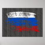 Diseño ruso fresco de la bandera impresiones