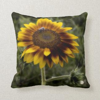 Diseño rústico del país de la almohada del girasol