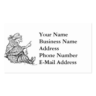 Diseño sabio del bosquejo de la mujer plantilla de tarjeta de visita