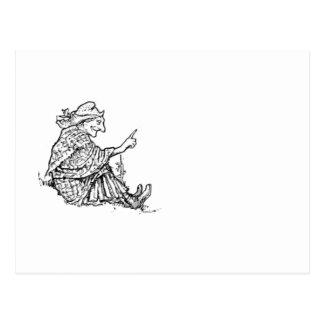 Diseño sabio del bosquejo de la mujer tarjeta postal