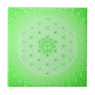 Diseño sagrado psicodélico de Chakra del corazón d Tejas Ceramicas