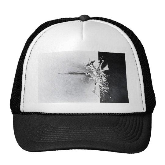 Diseño salvaje blanco y negro abstracto gorros bordados