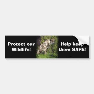 Diseño salvaje del Animal-amante de los gatos gran Etiqueta De Parachoque