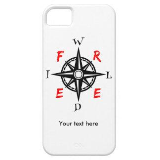 Diseño salvaje y libre del aventurero funda para iPhone 5 barely there