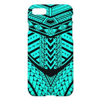 Diseño samoano tribal del tatuaje en simetría funda para iPhone 7