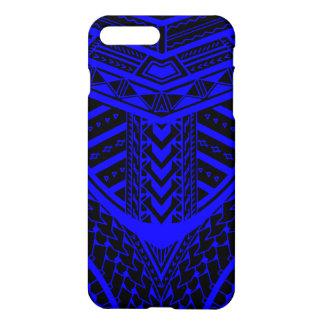 Diseño samoano tribal del tatuaje en simetría funda para iPhone 7 plus