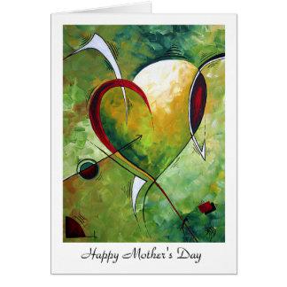 """Diseño """"sentido"""" feliz de MADART del día de madre Tarjeta De Felicitación"""