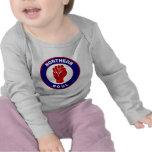 Diseño septentrional de la blanco de la MOD del Camisetas