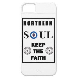 Diseño septentrional del alma con la blanco, el iPhone 5 funda