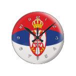 Diseño servio de la burbuja de la bandera de Serbi Reloj
