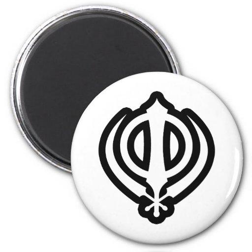 Diseño sikh del Punjabi del Sikhism de Khanda Khal Imanes De Nevera