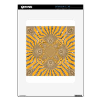 Diseño simétrico asombroso nervioso precioso del skins para iPad
