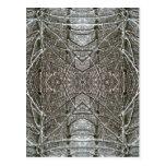 Diseño simétrico del arte abstracto de la nieve de postales
