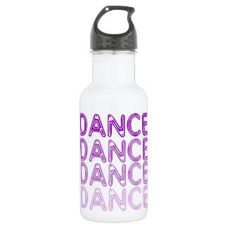 Diseño simple de la danza botella de agua de acero inoxidable