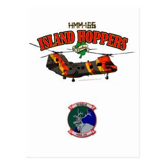 Diseño simple de las tolvas de la isla postal