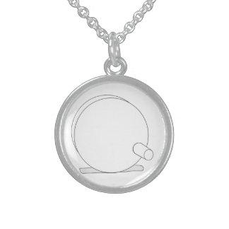 Diseño simple del carrete de la mosca collares de plata esterlina