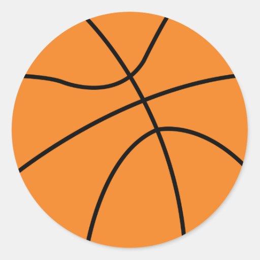 diseño simple del vector del baloncesto pegatina redonda