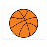diseño simple del vector del baloncesto tarjetas postales
